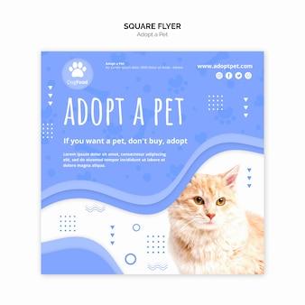 Modelo de folheto com adotar animal de estimação