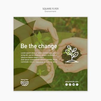 Modelo de folheto com conceito de ambiente