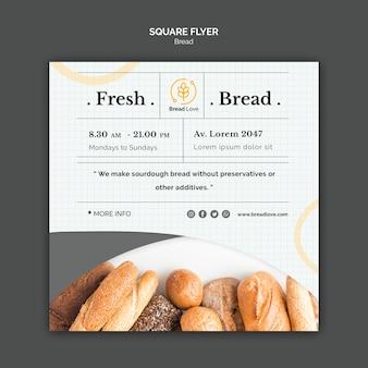 Modelo de folheto com pão