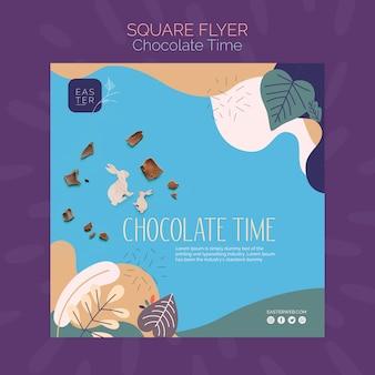 Modelo de folheto com tema de chocolate
