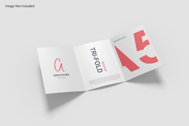 Modelo de folheto com três dobras a5