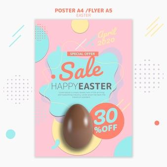 Modelo de folheto com venda do dia de páscoa