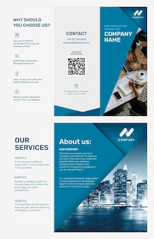 Modelo de folheto comercial psd para empresa de marketing