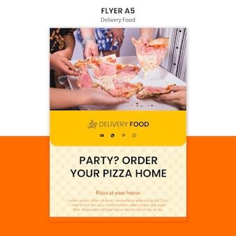 Modelo de folheto - comida de entrega