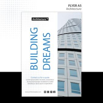 Modelo de folheto - conceito de arquitetura