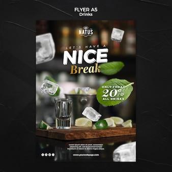 Modelo de folheto - conceito de bebidas