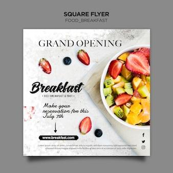 Modelo de folheto - conceito de café da manhã