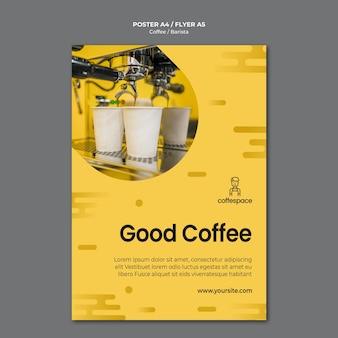 Modelo de folheto - conceito de café