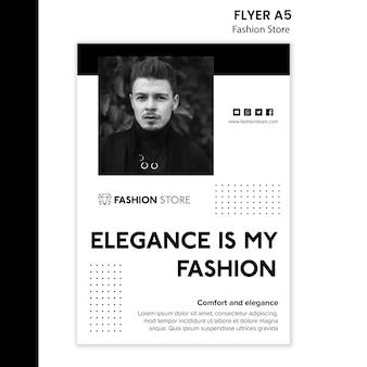 Modelo de folheto - conceito de loja de moda