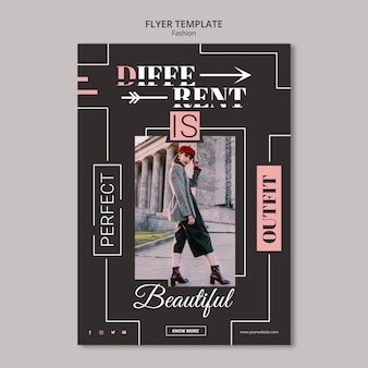 Modelo de folheto - conceito de moda