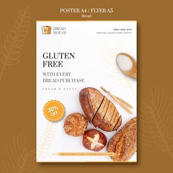 Modelo de folheto - conceito de pão