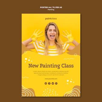 Modelo de folheto - conceito de pintura