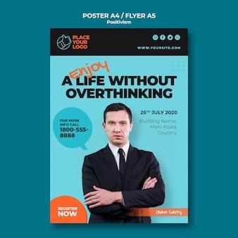 Modelo de folheto - conceito de positivismo