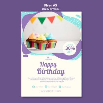 Modelo de folheto - conceito feliz aniversário