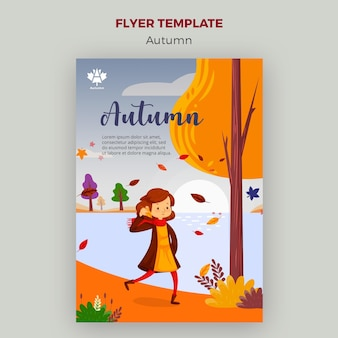 Modelo de folheto - conceito outono