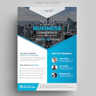 Modelo de folheto - conferência de negócios corporativos