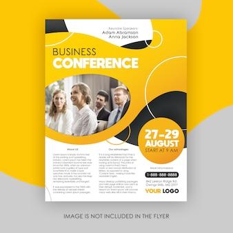 Modelo de folheto - conferência de negócios modernos