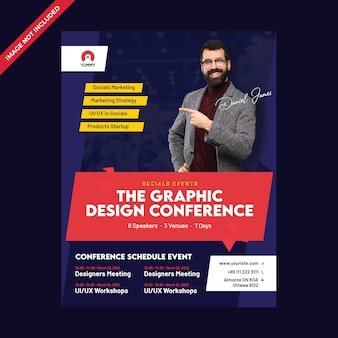 Modelo de folheto - conferência