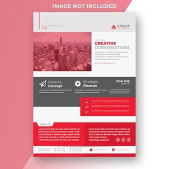 Modelo de folheto corporativo criativo