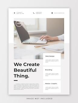 Modelo de folheto corporativo minimalista