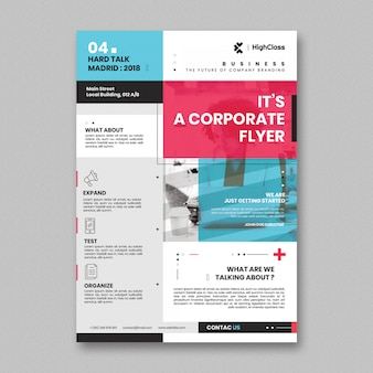 Modelo de folheto corporativo mínimo