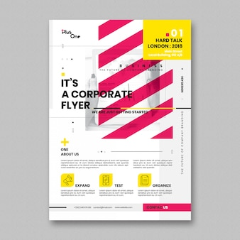 Modelo de folheto corporativo