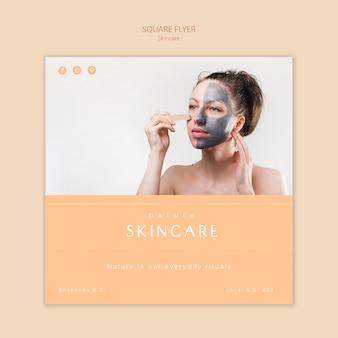 Modelo de folheto - cuidados com a pele