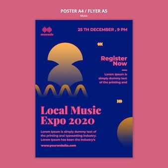 Modelo de folheto da music expo