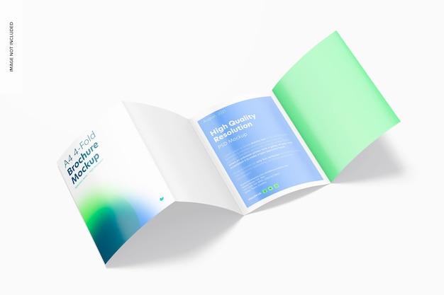 Modelo de folheto de 4 dobras a4, aberto