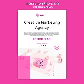 Modelo de folheto de agência criativa