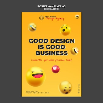 Modelo de folheto de agência de design