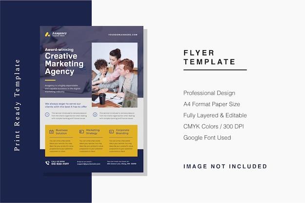 Modelo de folheto de agência de marketing criativo