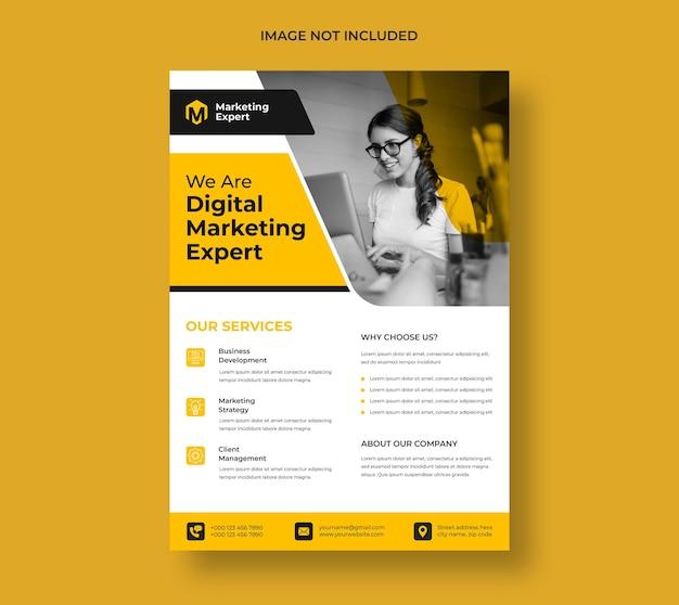 Modelo de folheto de agência de marketing digital moderno