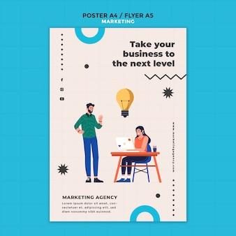 Modelo de folheto de agência de marketing