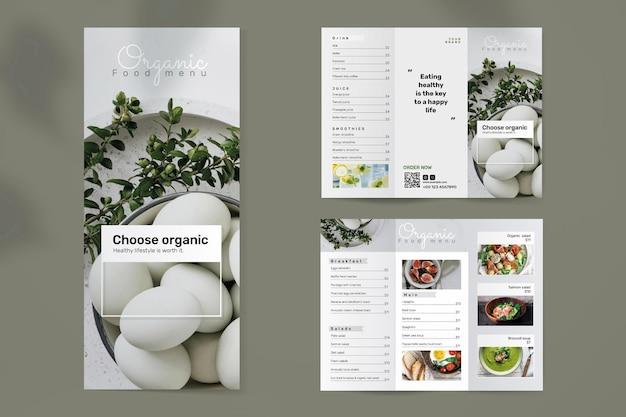 Modelo de folheto de alimentos orgânicos psd