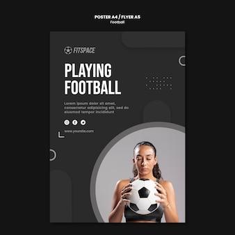 Modelo de folheto de anúncio de futebol