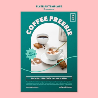 Modelo de folheto de café grátis