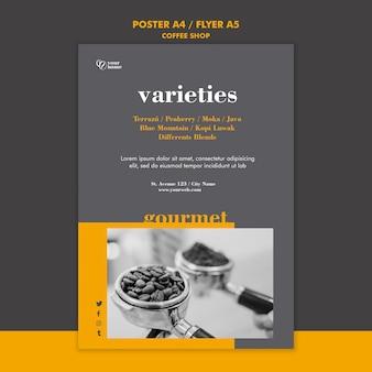 Modelo de folheto de cafeteria