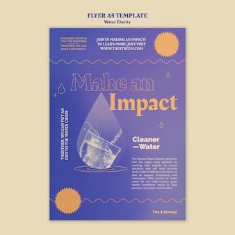 Modelo de folheto de caridade de água