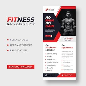 Modelo de folheto de cartão dl de fitness