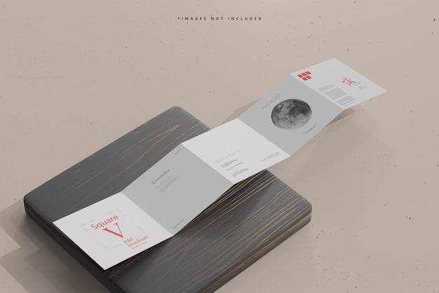 Modelo de folheto de cinco dobras quadradas