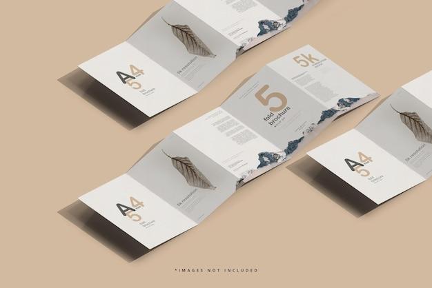 Modelo de folheto de cinco dobras tamanho a4