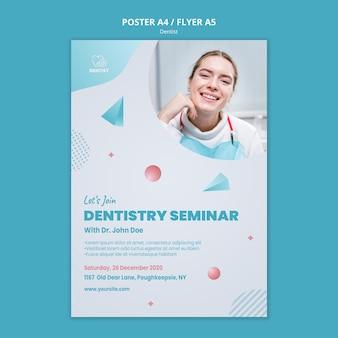 Modelo de folheto de clínica dentista