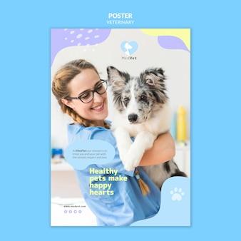 Modelo de folheto de clínica veterinária