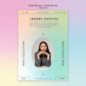 Modelo de folheto de coleção de moda