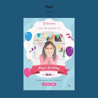 Modelo de folheto de comemoração de aniversário