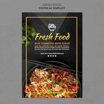 Modelo de folheto de comida fresca
