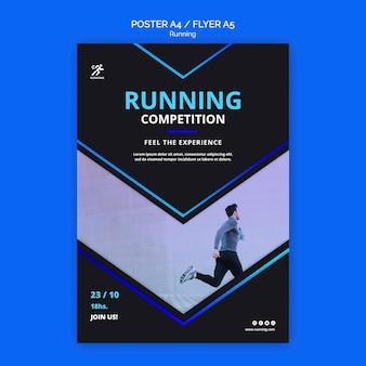Modelo de folheto de competição em execução