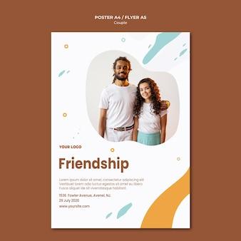 Modelo de folheto de conceito de casal