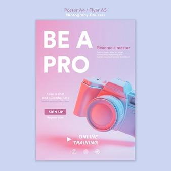 Modelo de folheto de conceito de fotografia